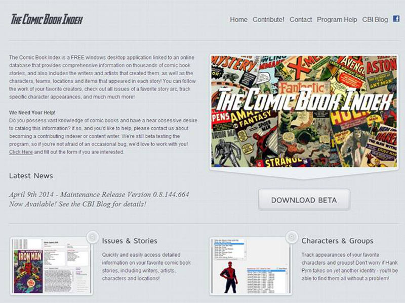 Comic Book Index